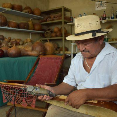 Artesano de leek confía en que el Tren Maya reimpulse sus productos