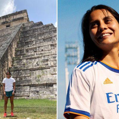 Seleccionada mexicana y jugadora del Real Madrid visita Chichén Itzá