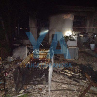 Se incendia su taller y se comporta impertinente con los bomberos