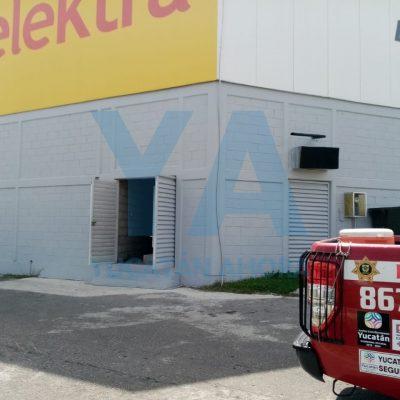 Incendio en tienda Elektra de Ciudad Caucel
