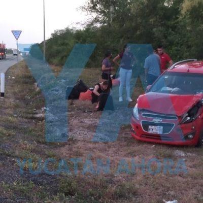 Se accidentan integrantes de la Guardia Nacional en la carretera Mérida-Campeche