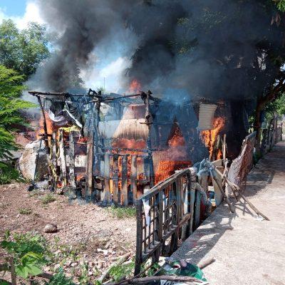 Se quema vivienda en la colonia San Luis Sur Dzununcán