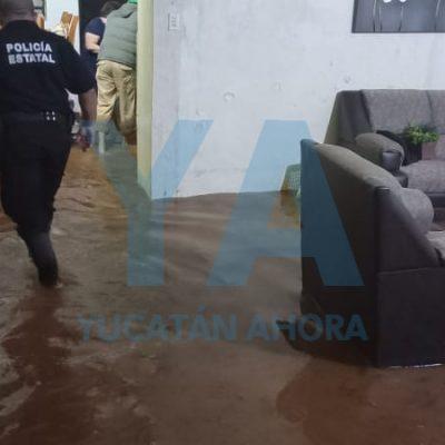 Saldo de la lluvia en el sur de Yucatán: casas inundadas, árboles caídos y una abuelita rescatada