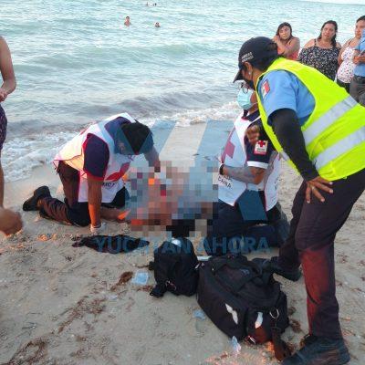 Se echó trágico clavado en Sisal: había vaciante y se golpeó la cabeza