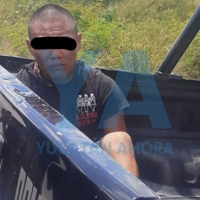 Atrapan a ladrón de motos en Kanasín