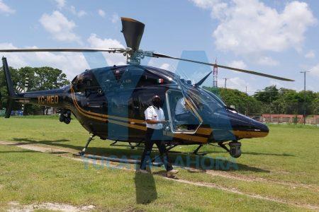 Trasladan en helicóptero de la SSP a una menor de edad que sufrió grave accidente en Sucilá