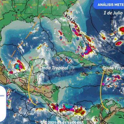 Inicia julio con tormentas dispersas en la Península de Yucatán