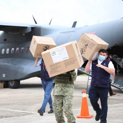 Ya están en Yucatán 40 mil vacunas para continuar la inmunización de yucatecos contra Covid-19