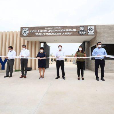 """Inauguran el nuevo edificio de la Escuela Normal de Educación Primaria """"Rodolfo Menéndez de la Peña"""""""