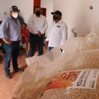 Entregan maíz a las familias de Yucatán que más lo necesitan