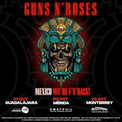 Guns N'Roses confirma concierto en Mérida, para el 9 de octubre en Xmatkuil