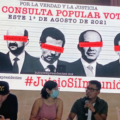 Piden a yucatecos que participen en la consulta popular para enjuiciar a los ex presidentes