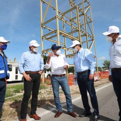 Avanzan trabajos para mejorar la movilidad y dar más seguridad vial en el Periférico de Mérida