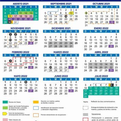 Segey presenta Calendario Escolar 2021-2022 de 190 días