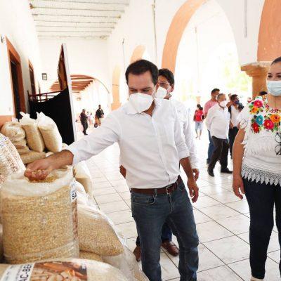 Mauricio Vila distribuye 230 toneladas de semilla de soya para cultivar miles de hectáreas en Yucatán