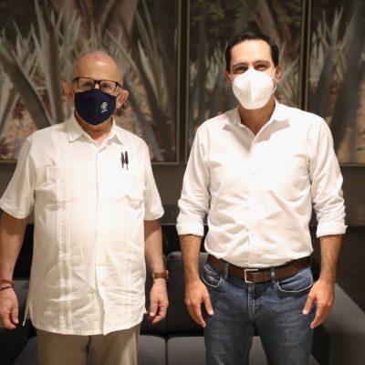 El Gobernador Mauricio Vila reitera el apoyo de Yucatán al proyecto del Tren Maya
