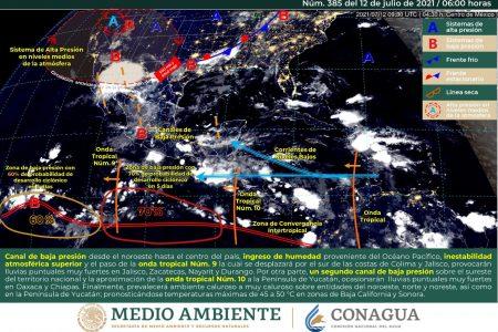 Pronostican inicio de semana con lluvias en Yucatán