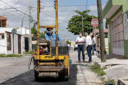 El Ayuntamiento pone especial énfasis en los trabajos de bacheo en Mérida