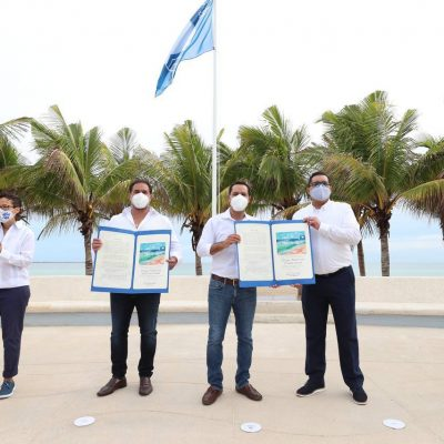 """Por segundo año consecutivo, la playa de Progreso recibe la certificación """"Blue Flag"""""""
