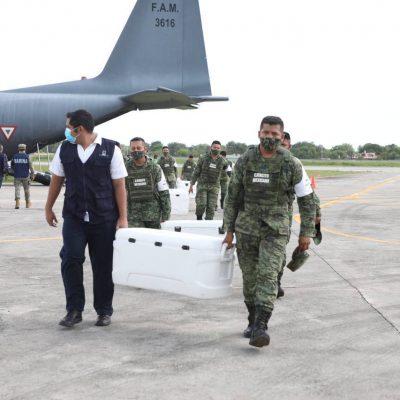 Llega a Yucatán un nuevo cargamento con 58,500 vacunas Covid-19