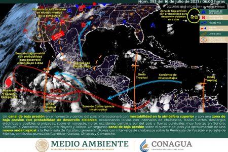 Pronostican lluvias en el oriente, centro y sur de Yucatán