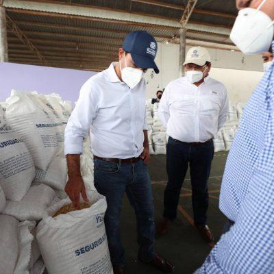 Les entregan sus casas con todo y saco de maíz, en el sur de Yucatán