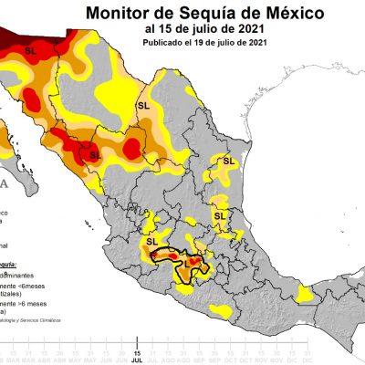 Canícula favorecería reaparición de sequía en la Península de Yucatán