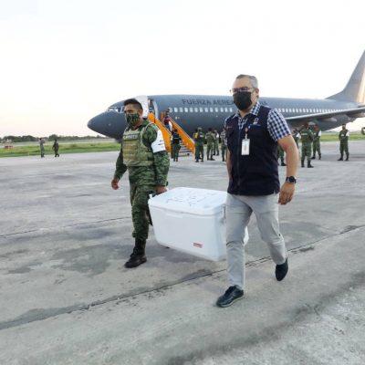 Llega a Yucatán un cargamento con 135 mil 300 vacunas contra Covid-19