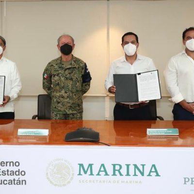 Mauricio Vila firma convenio para ampliar el Puerto de Altura de Progreso