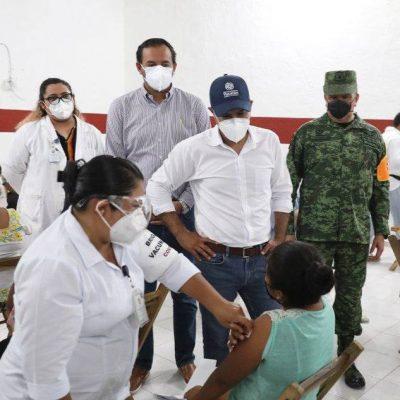 Yucatecos siguen respondiendo bien a la vacunación contra Covid-19