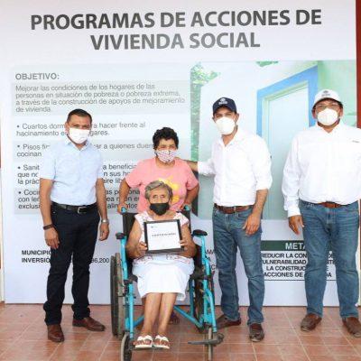 Habitantes de Temozón continúan recibiendo apoyo del Gobernador Mauricio Vila