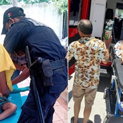 Le arrebatan un niño a la muerte: policías y paramédicos le salvan la vida tras caer a una piscina