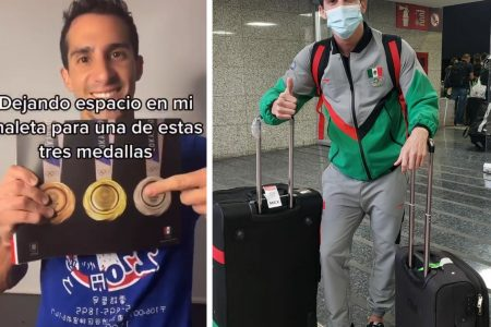 Rommel Pacheco ya está en Tokio para competir en los Juegos Olímpicos