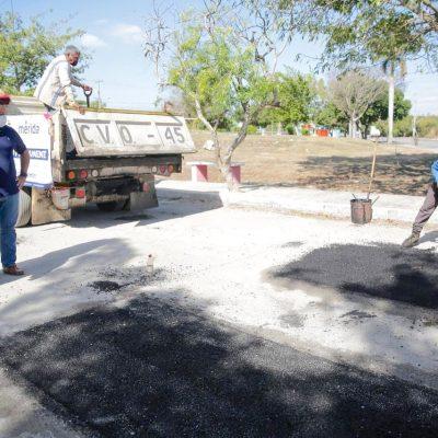Atención oportuna a reportes de baches en Mérida