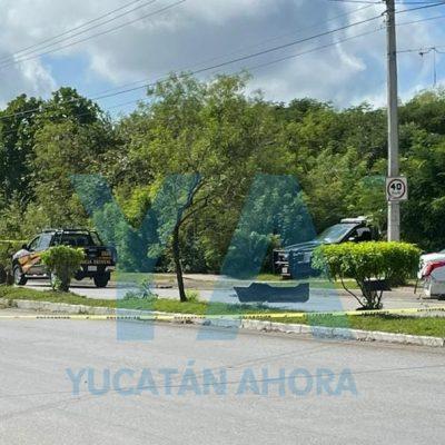 Fuerte accidente en la avenida del oriente de Mérida