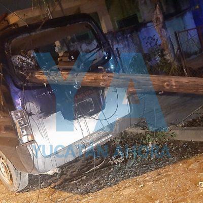 Se creyó huracán: arrancó cables y derribó postes en la Melitón Salazar