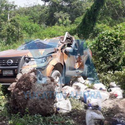 Trágico accidente en el entronque a Sucilá, en la carretera Mérida-Tizimín