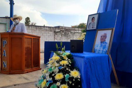 Rinden homenaje póstumo a Edward Pérez Salazar, primer alcalde panista de Tizimín