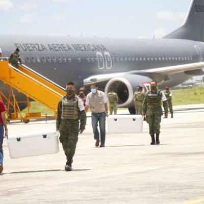 Llegan a Yucatán 97,000 vacunas AstraZeneca para segundas dosis a personas de 40-49 años en Mérida