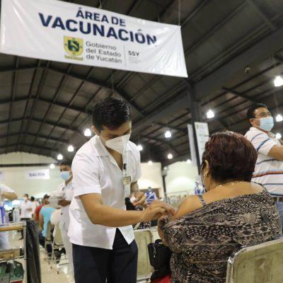 Yucatecos de 40 a 49 años de Mérida comienzan a recibir la segunda dosis contra Covid-19