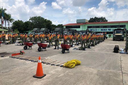 Por huracán Grace, el Ejército despliega ingenieros especializados en casos de desastres