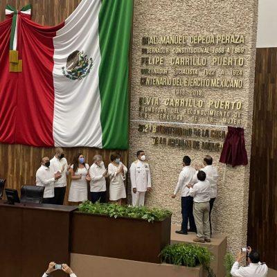 Legislatura de Yucatán honra a la Armada de México en su bicentenario