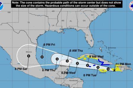 Grace se moverá sobre la parte norte de la Península de Yucatán