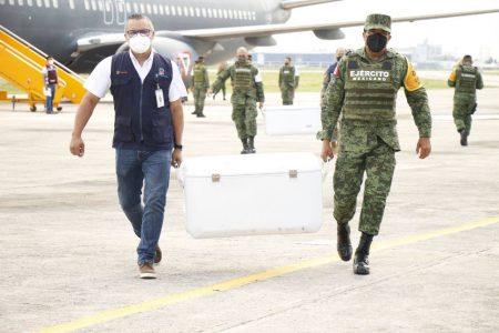 Llegan a Yucatán 134 mil nuevas vacunas contra Covid-19