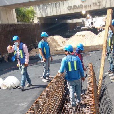 El Ayuntamiento de Mérida vigila que se hagan con calidad trabajos en el paso deprimido