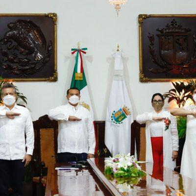 Trabajar unidos, la clave para abatir los males sociales: Renán Barrera
