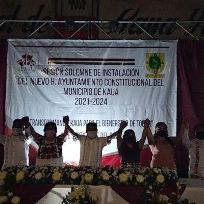 Crescencio Noh Cen rinde protesta como nuevo alcalde de Kaua