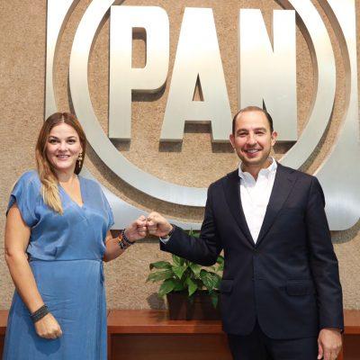 Cecilia Patrón va en fórmula con Marko Cortés para dirigir el PAN nacional