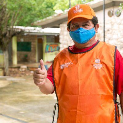 Activan brigadas de acompañamiento del regreso a clases en Yucatán