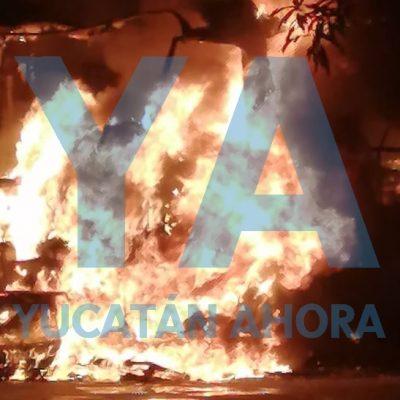 Arde en llamas camper estacionado en calles de la García Ginerés